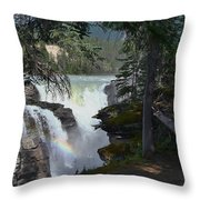 Athabasca Falls 2 Throw Pillow