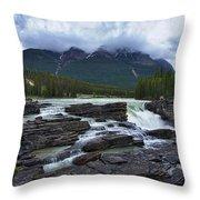 Athabasca Falls #3 Throw Pillow