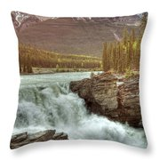 Athabasca Falls Throw Pillow