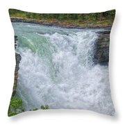 Athabasca Falls Study V Close-up Throw Pillow