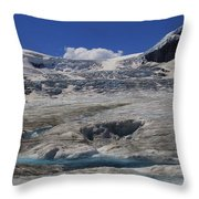 Athabasca Glacier 1 Throw Pillow