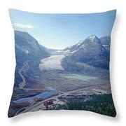 1m3735-athabasca Glacier Throw Pillow