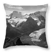 T-303504-bw-athabasca Glacier In 1957  Throw Pillow