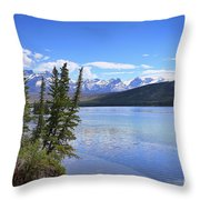 Athabasca River Scenery Throw Pillow