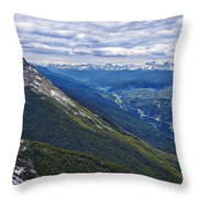 Athabasca River Valley - Jasper Throw Pillow