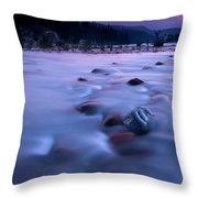 Athabasca Sunset Throw Pillow