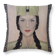 Athena Throw Pillow by Lynet McDonald