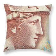 Athena On Banknote Throw Pillow