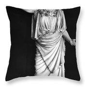 Athena Or Minerva Throw Pillow