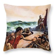 Athenian Trireme Throw Pillow