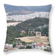 Athens 3 Throw Pillow