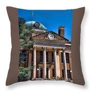Athens Alabama Historical Courthouse Throw Pillow