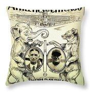 Athletics Vs Chicago 1929 World Series Throw Pillow