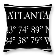 Atlanta Coordinates Throw Pillow