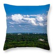 Atlanta From High Throw Pillow