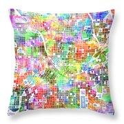 Atlanta Georgia Map 2 Throw Pillow