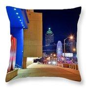 Atlanta Outside Cnn Throw Pillow
