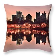 Atlanta Piedmont Pink Throw Pillow