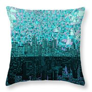 Atlanta Skyline Abstract 2 Throw Pillow