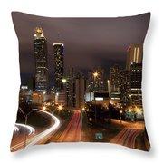 Atlanta Skyline At Dusk Throw Pillow