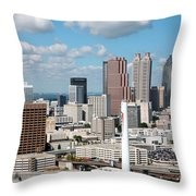 Atlanta Skyline Throw Pillow