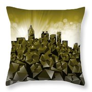 Atlanta Skyline Geometry Throw Pillow