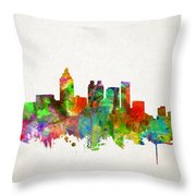 Atlanta Skyline Watercolor Throw Pillow