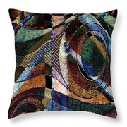 Atlanta Solis Abstract Art Throw Pillow