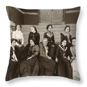 Atlanta University, C1900 Throw Pillow