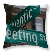 Atlantic And Meeting St Throw Pillow