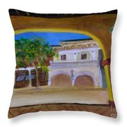 Atlantic Ave From The Shade Of Hands Throw Pillow