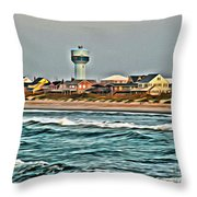 Atlantic Beach Throw Pillow