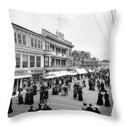 Atlantic City Boardwalk Throw Pillow