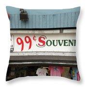 Atlantic City New Jersey - Souvenir Store Throw Pillow