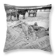 Atlantic City The Sandman Throw Pillow