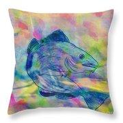 Atlantic Codfish Digital Color Throw Pillow