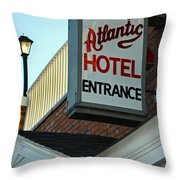 Atlantic Hotel Throw Pillow by Skip Willits