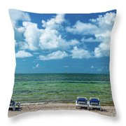 Atlantic Ocean At Smathers Beach In Key Throw Pillow