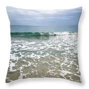 Atlantic Ocean Surf Throw Pillow