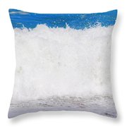 Atlantic Ocean Wave Throw Pillow