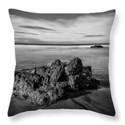 Downhill - Atlantic Rocks Throw Pillow