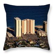 Atlantis Condominium Ocean City Md Throw Pillow