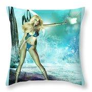 Atlantis Pin-up Throw Pillow