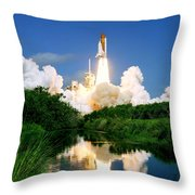 Atlantis Reflection Throw Pillow
