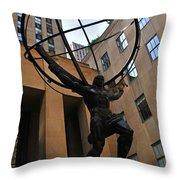 Atlas Holds The Heavens Throw Pillow