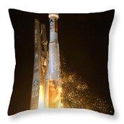 Atlas V Rocket Taking Off Throw Pillow
