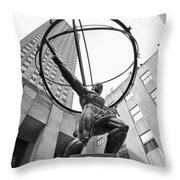 Atlas Of New York City Throw Pillow