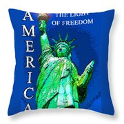 The Light Of Freedom Throw Pillow