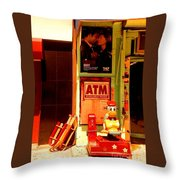 A T M And Sled Throw Pillow