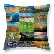 Atmospheric Beaches   Throw Pillow